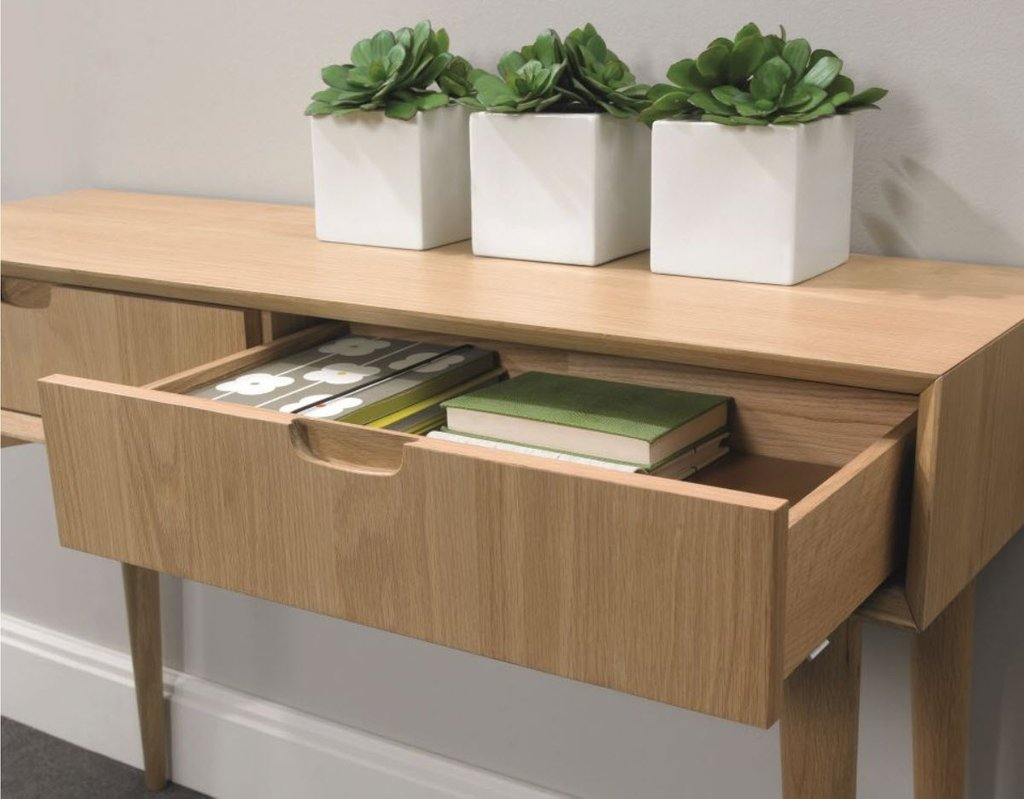 Stockholm Console Table Drawer Walnut Sofa Concept How To Design Rustic Console Table