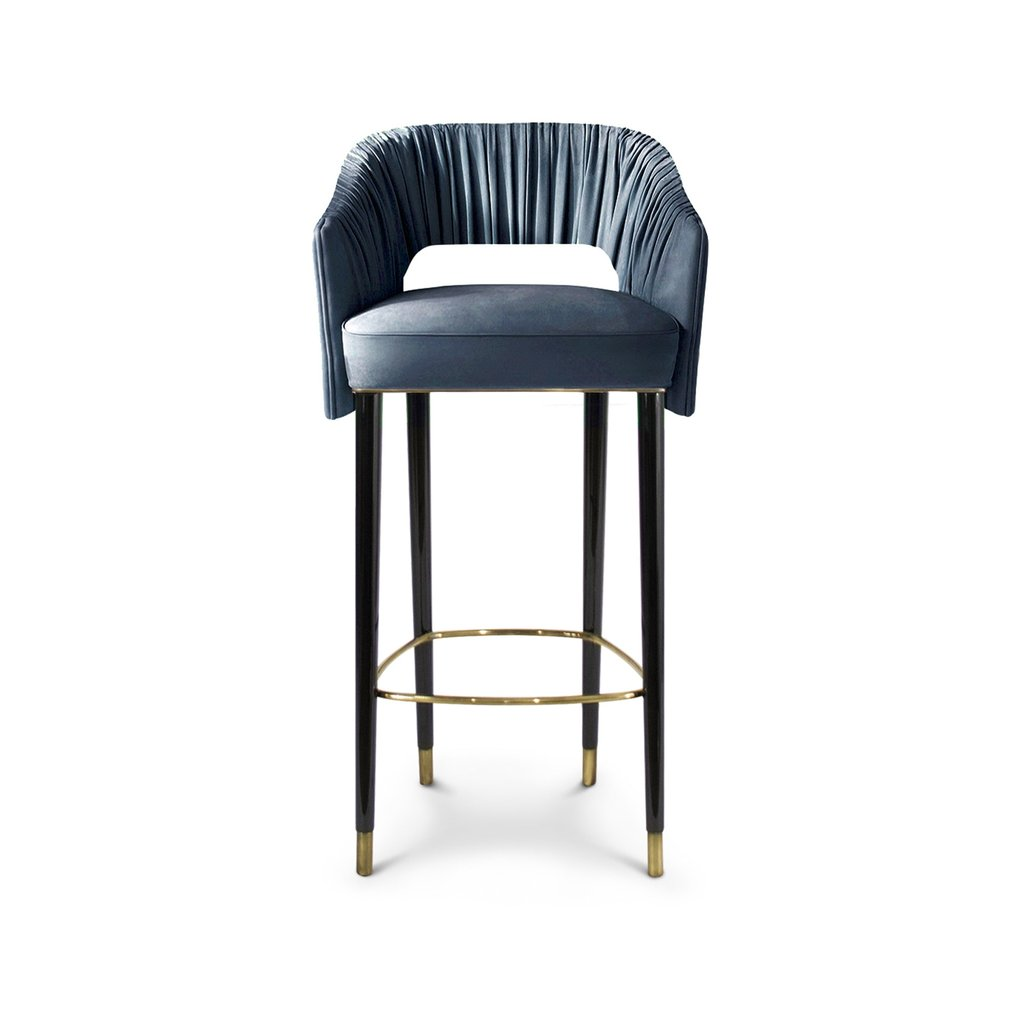 Stola Bar Counter Chair Contemporary Transitional Metal