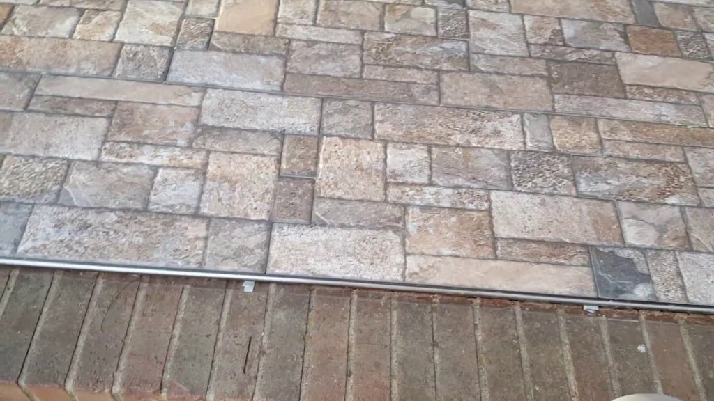 Stone Ceramic Tile Gray Stone Floor Tile Faux Brick Flooring Finish