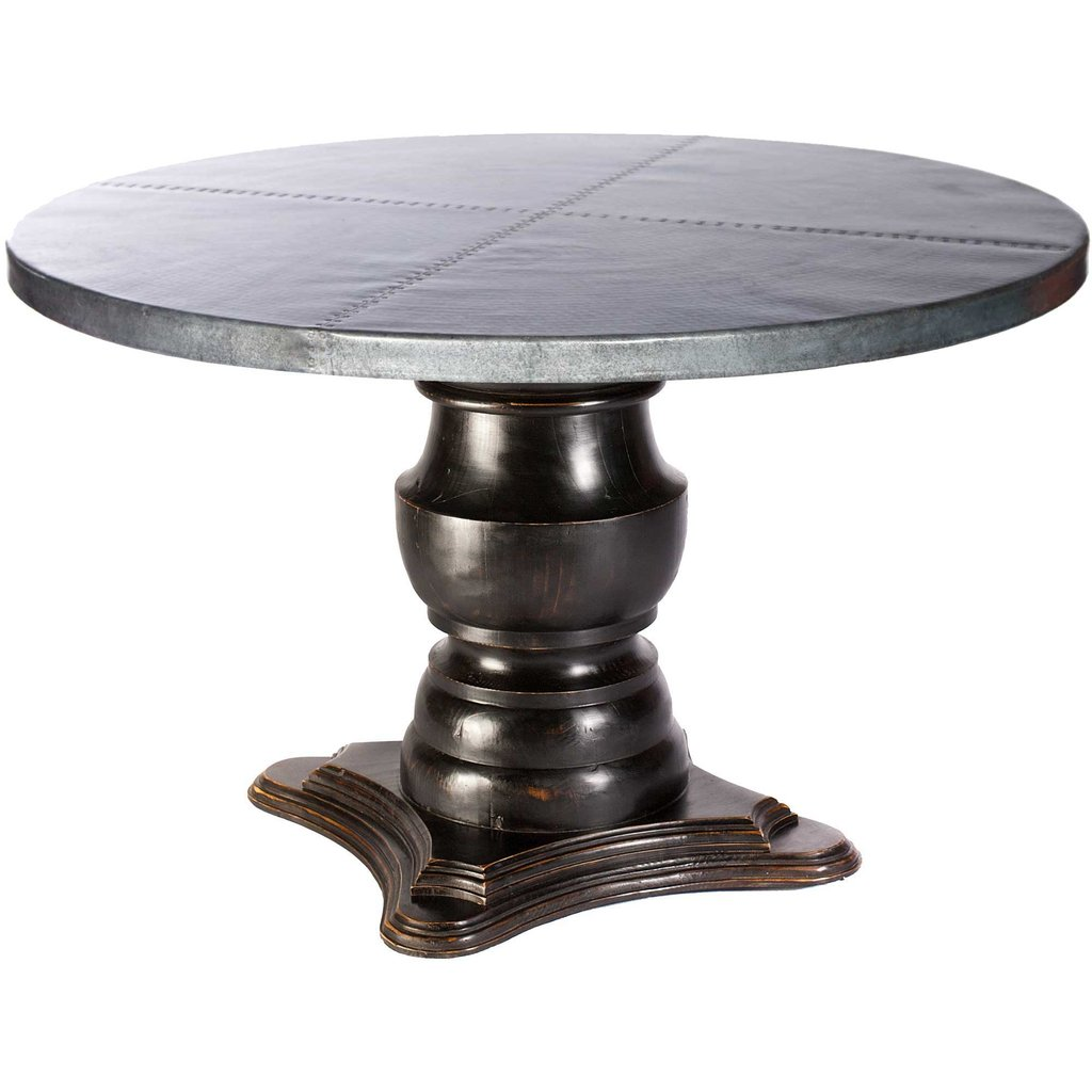 Stone Stack 60quot Dining Table Dcg Store Laminate How To Build Round Wood Table Tops