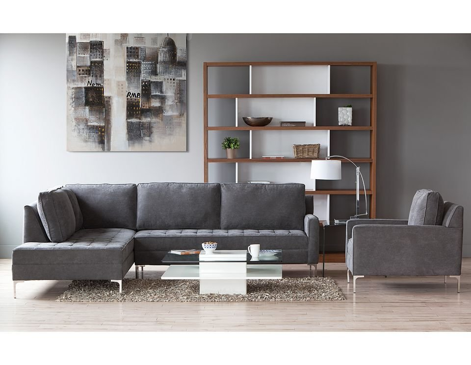Structube Living Room Sectional Sofa Miami Sectional Sofas For Small Spaces Modern