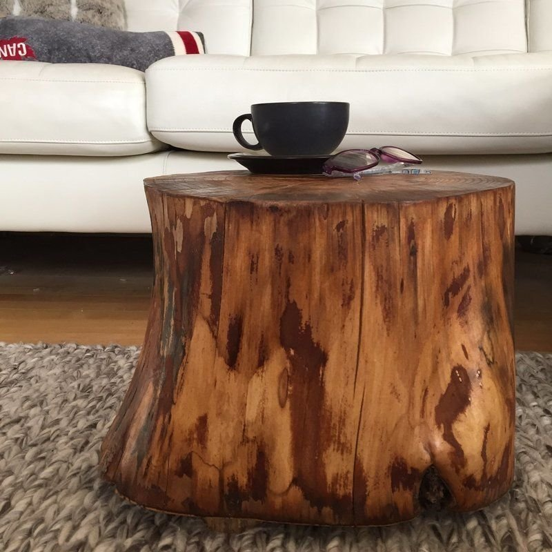 Stump Side Table Log Side Tables Log Stool Rustic Coffee Make A Tree Trunk Coffee Table