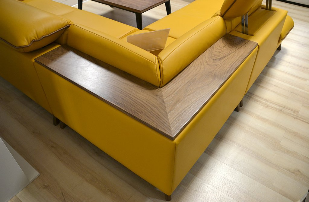 Stylized Retro Corner Sofa Sectional Sofas For Small Spaces Modern