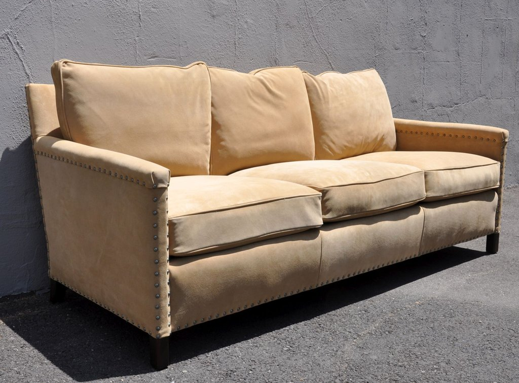 Suede Leather Sofa 58 Small Home Suede Couch Home