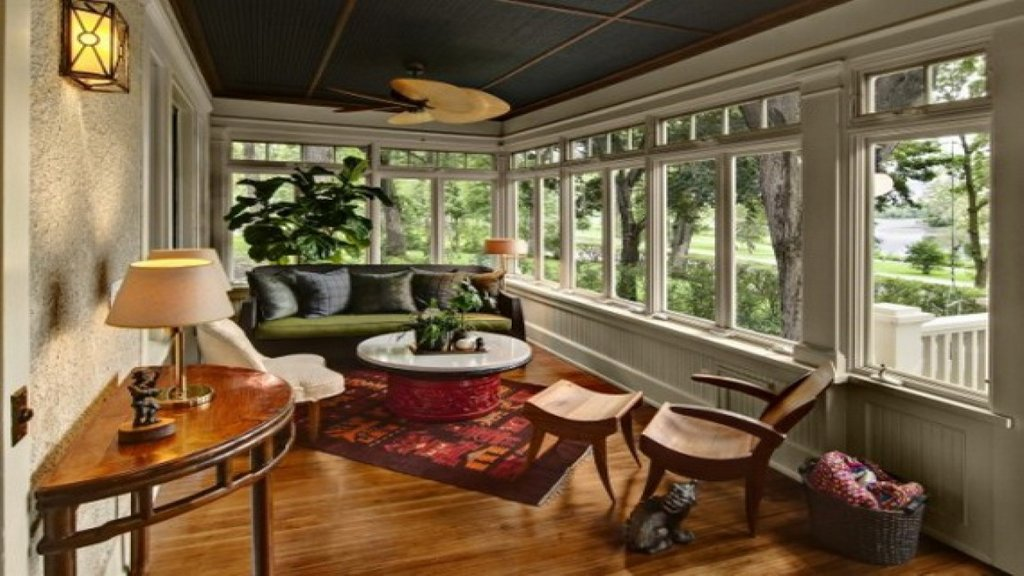 Sunroom Decorating Front Porch Sun Room Idea Incredible Dining Room Table Centerpieces Ideas