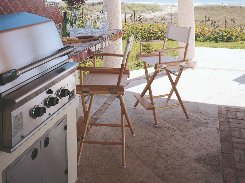 Telescope Casual Director Chair Wood Counter Set Fscdsb Counter Height Kitchen Tables Design