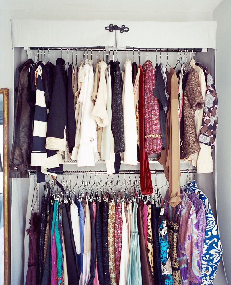 Tiny Closet Hack Domino Ideas For Wooden Clothes Rack