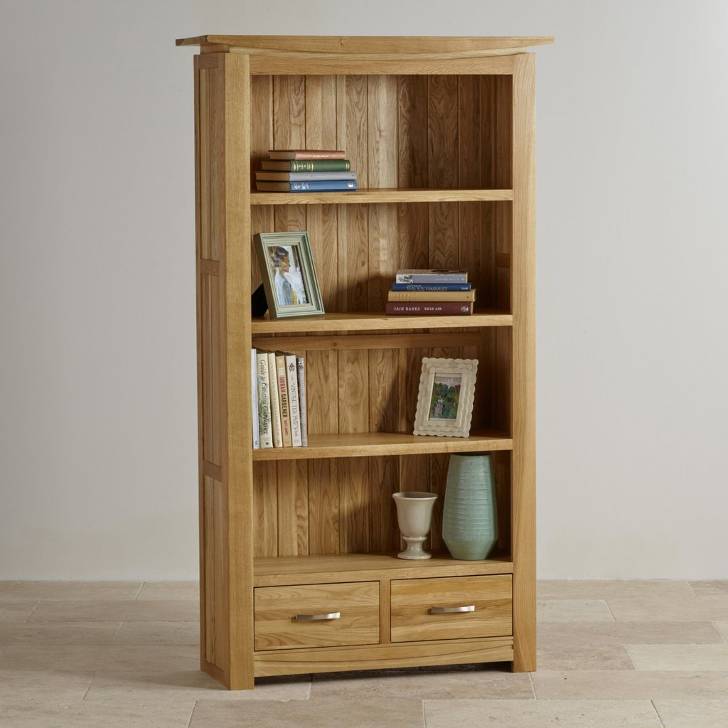 Tokyo Natural Solid Oak Bookcase Living Room Furniture How To Make Baby Changing Table Dresser