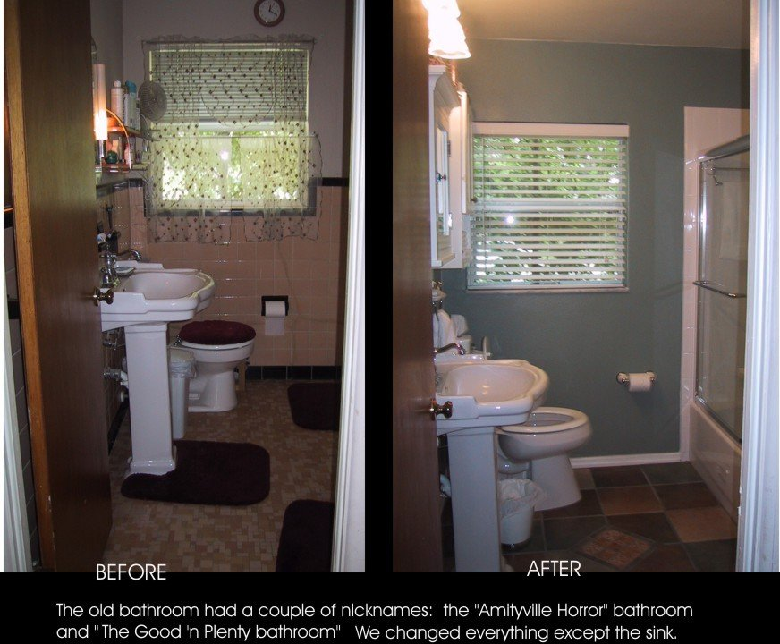 Top 28 Bathroom Rehab Idea Faux Brick Flooring Finish
