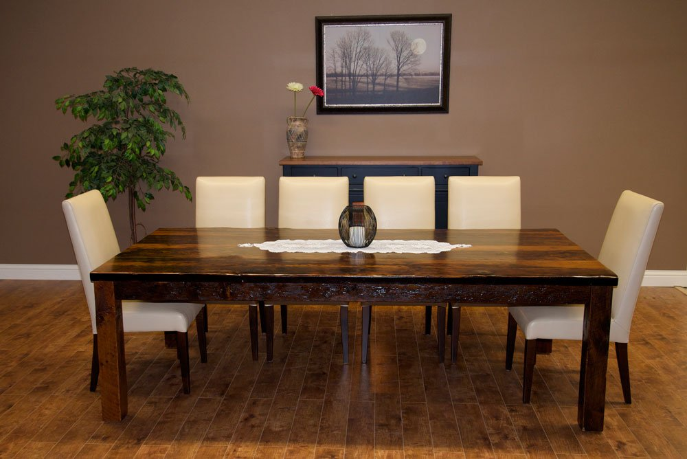 Topnotch Reclaimed Furniture Double Pedestal Dining Table Antique