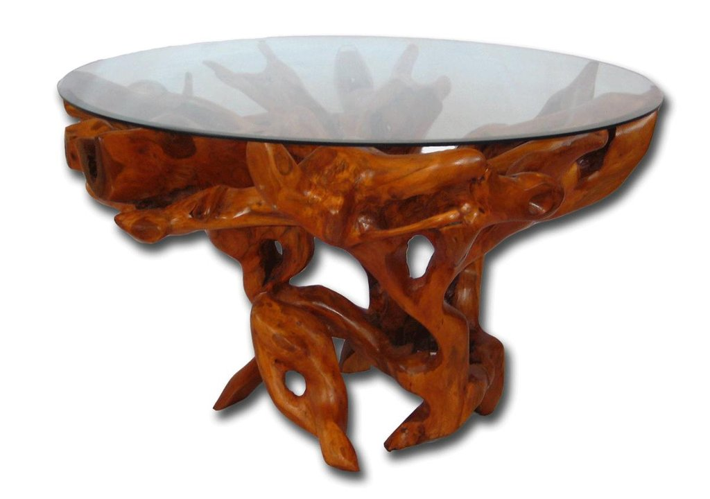 Tree Root Dining Table Base Teak Furniture Teak Root Make A Tree Trunk Coffee Table