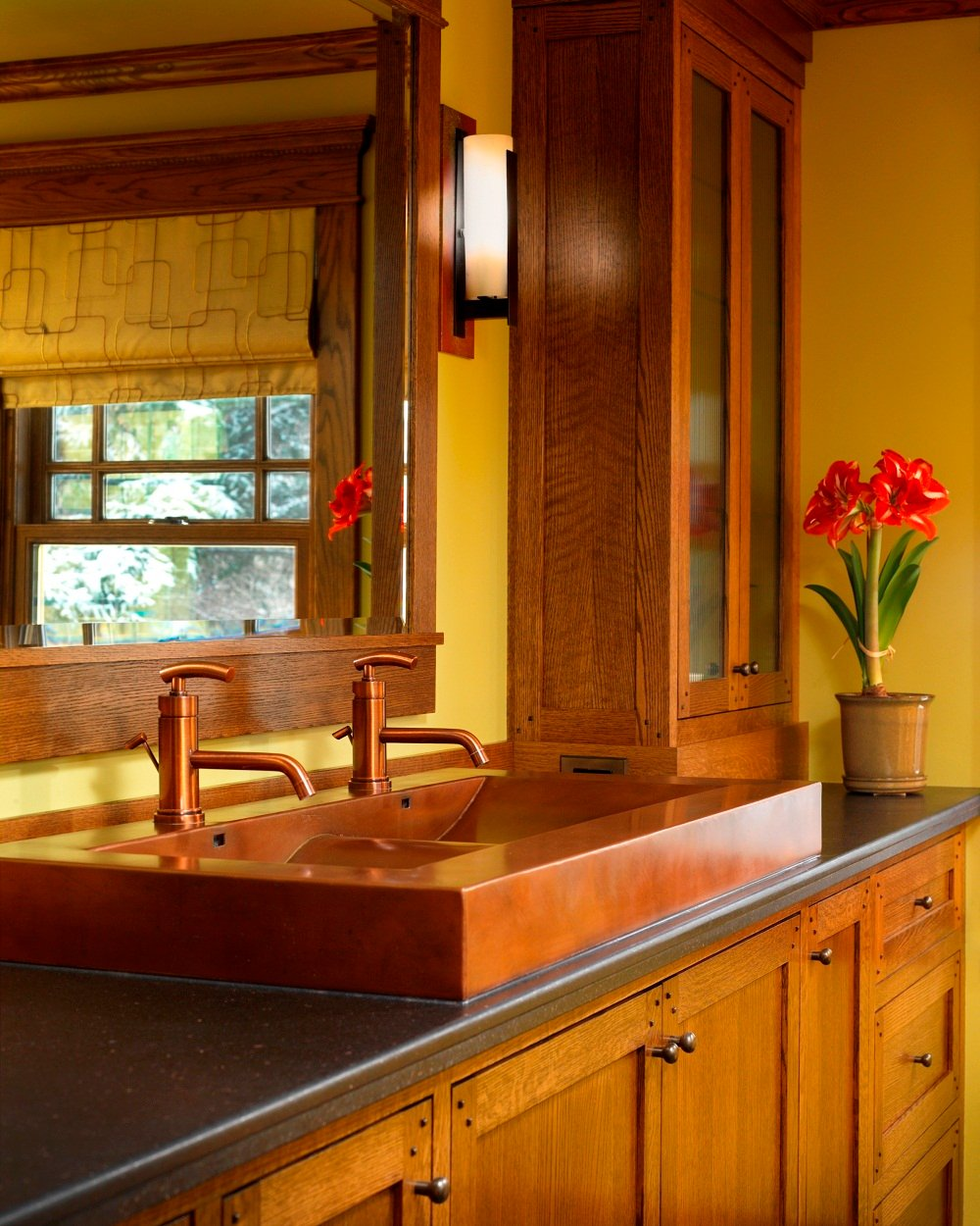 Trough Sink Efficient Bathroom Kitchen Idea Solid Wood Vanity Units For Bathrooms