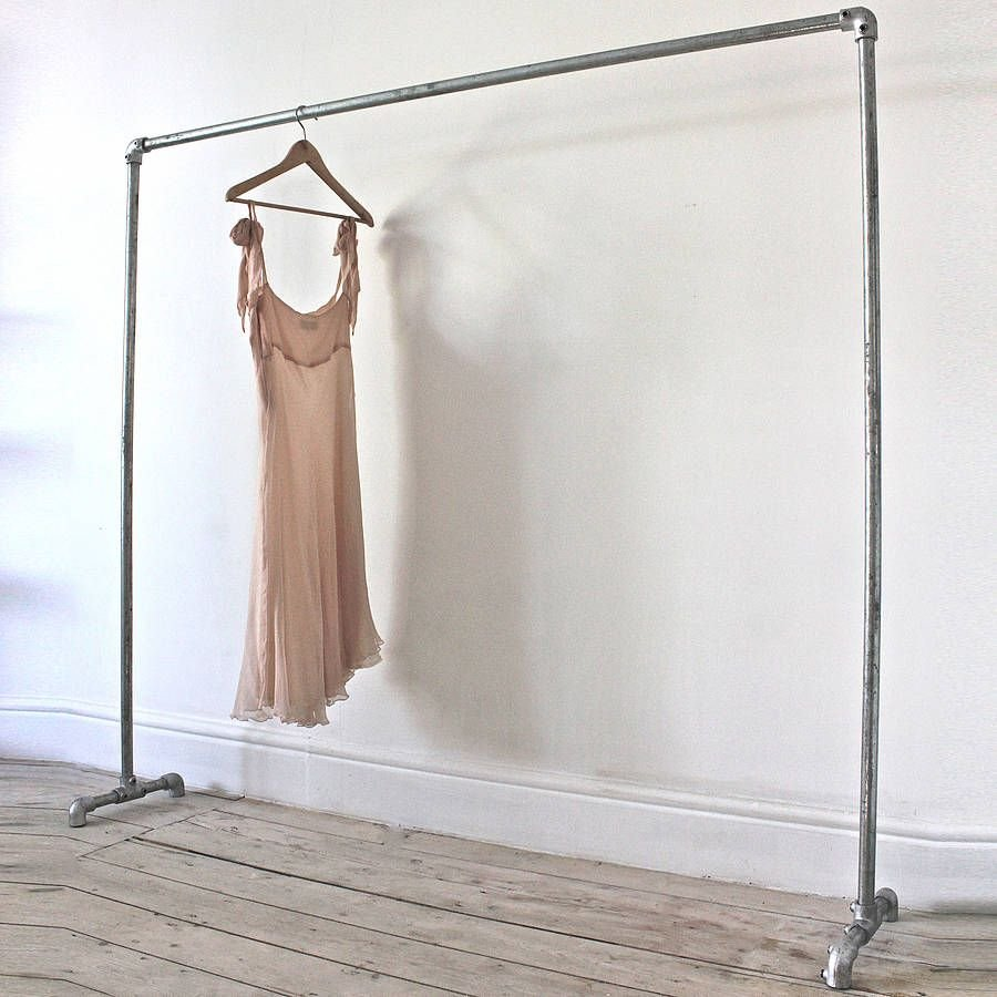 Truman Galvanised Steel Freestanding Clothe Rail Idea Ideas For Wooden Clothes Rack