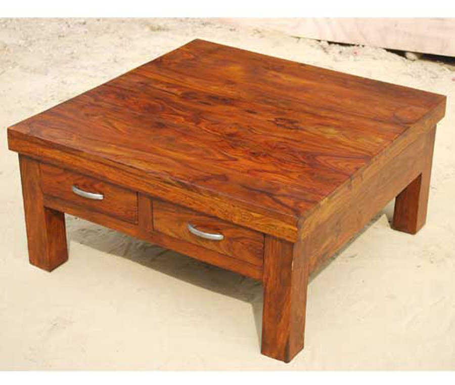 Type Large Square Coffee Table With Drawers