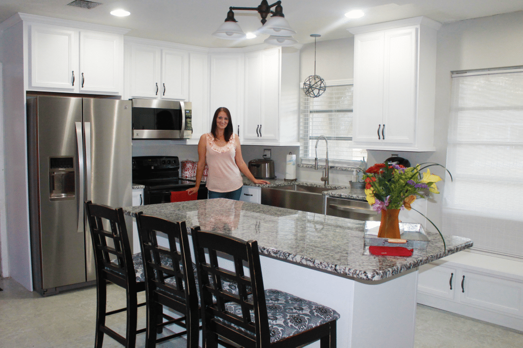 Ugly Kitchen Contest Winner Kitchen Makeover Reveal How To Build Shaker Cabinet Doors Style