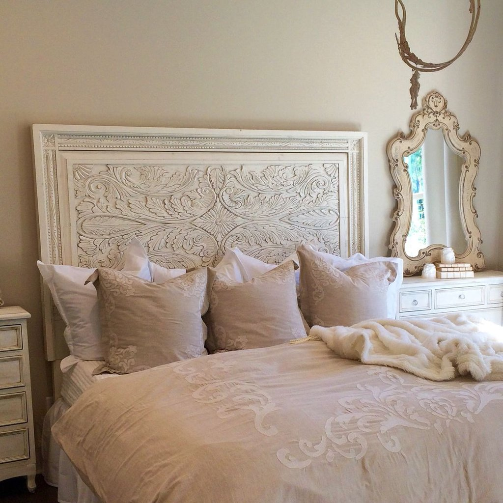 Unique Carved White King Headboard Unique Furnishing Barn Wood Headboard Ideas