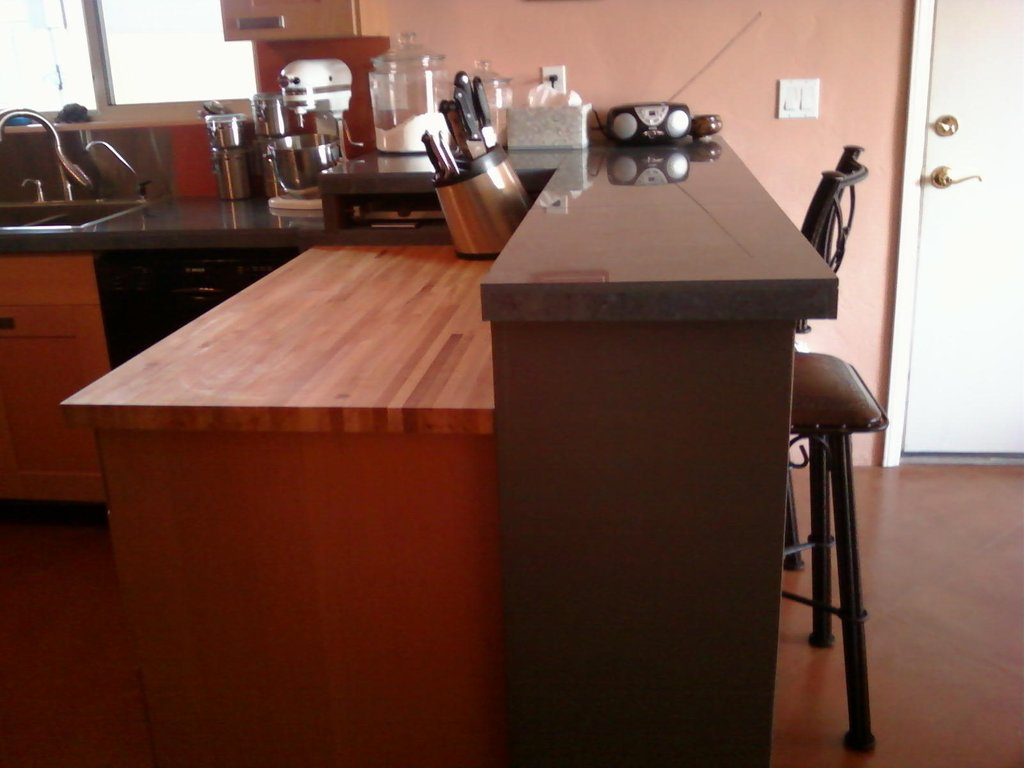Unique Kitchen Remodeling Ideas Peninsula Refinishing A Butcher Block Countertop
