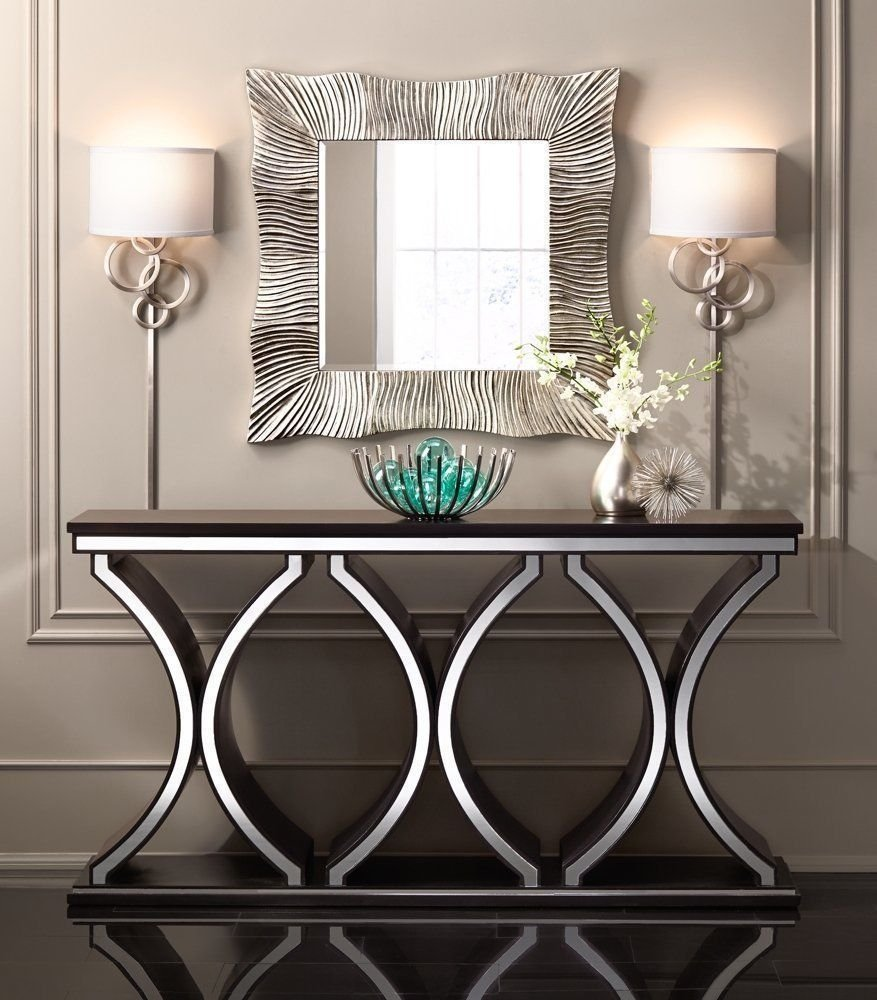 Unique Modern Sofa Tv Console Table Accent Table Brown How To Design Rustic Console Table