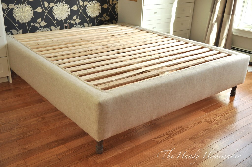 Upholstered Bed Frame Diy Part 1 Diy Project Cama How To Build A Wood Twin Bed Frame