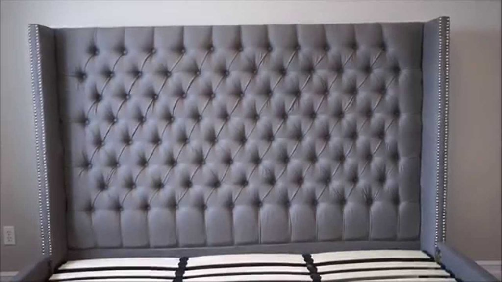Upholstered Tufted Headboard Bed Versaille Bed How To Build A Tufted Headboard