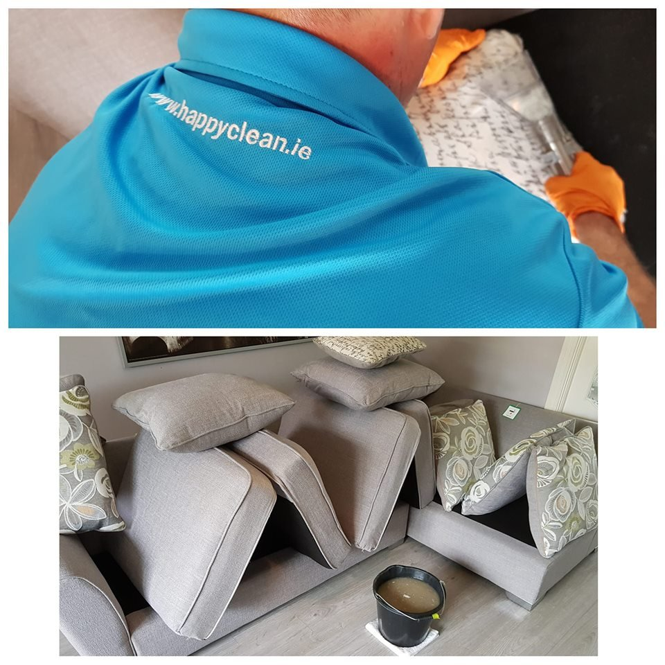 Upholstery Cleaning Happy Clean Leather Fabric Suede Couch Home
