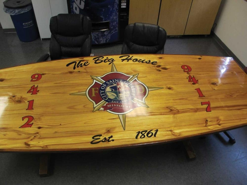 Utilizing Firehouse Kitchen Table Fire Rescue Repainting Butcher Block Kitchen Table