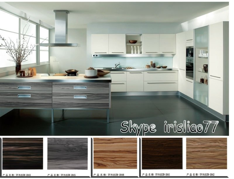 Uv High Gloss Wood Grain Kitchen Cabinet Door Buy Uv How To Match Thermofoil Cabinet Doors