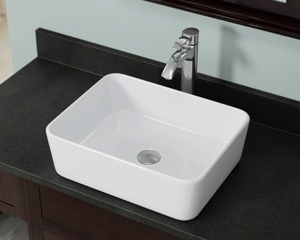 V140 White White Porcelain Vessel Sink Oil Rubbed Bronze Kitchen Faucet Vs Chromium