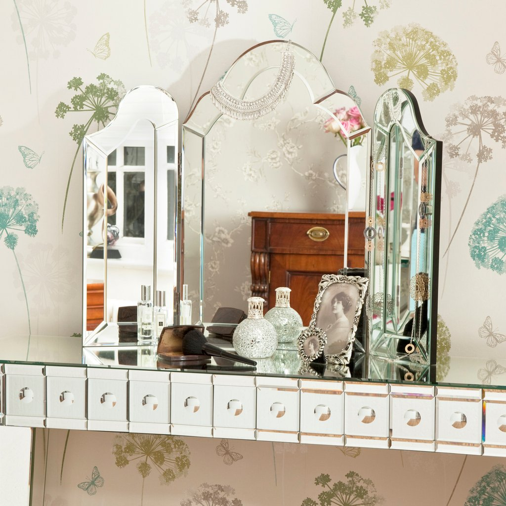 Valentina Gold Dressing Table Mirror Dressing Table Create Dressing Table With Mirrored Dresser
