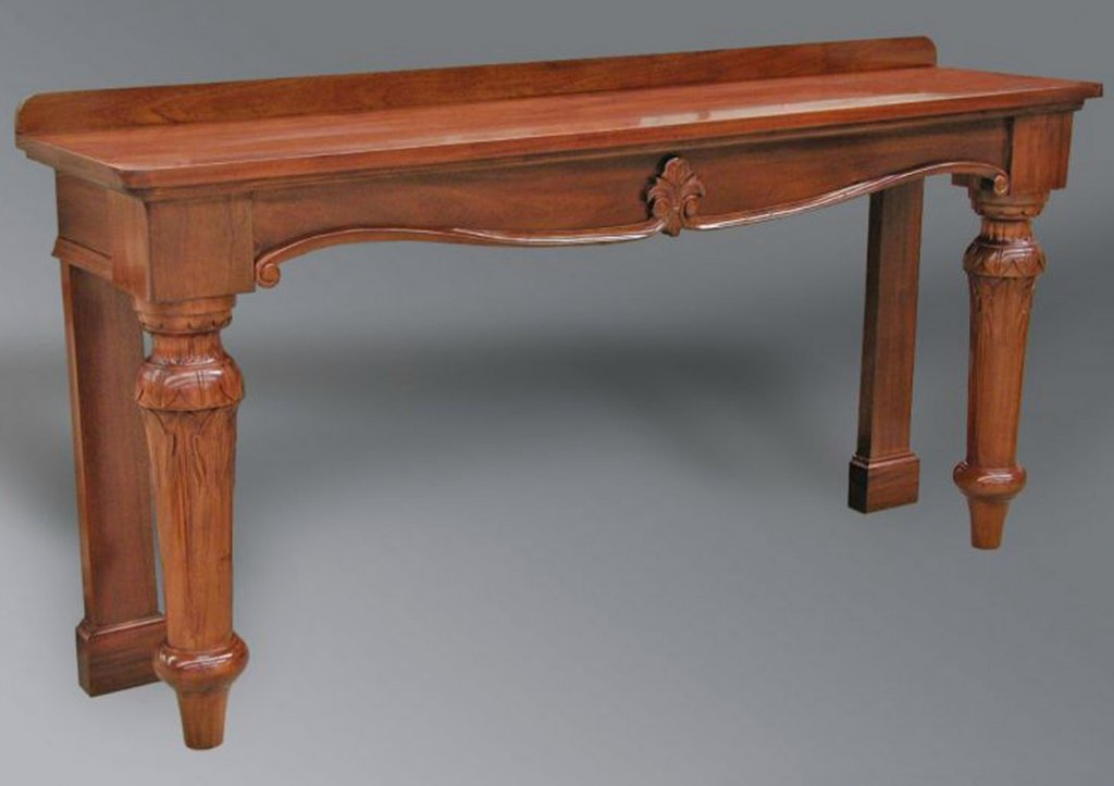 Victorian Style Console Table Turned Leg Timeless Victorian Furniture Design Style