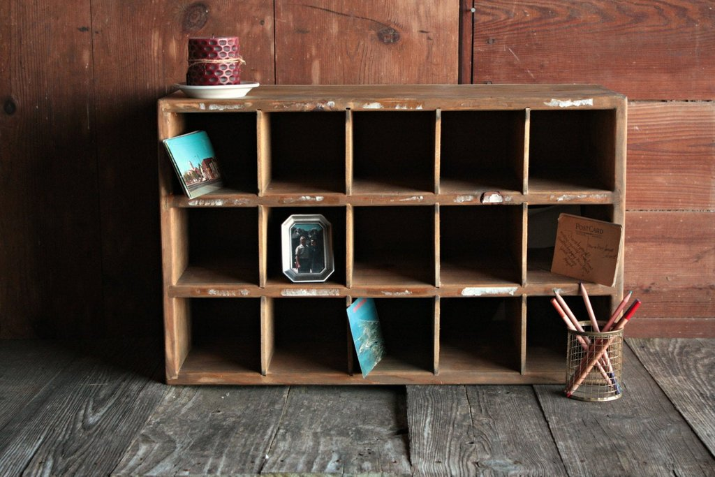 Vintage Wood File Divided Cubby Cabinet Vintage Office File Painted The Wicker End Tables