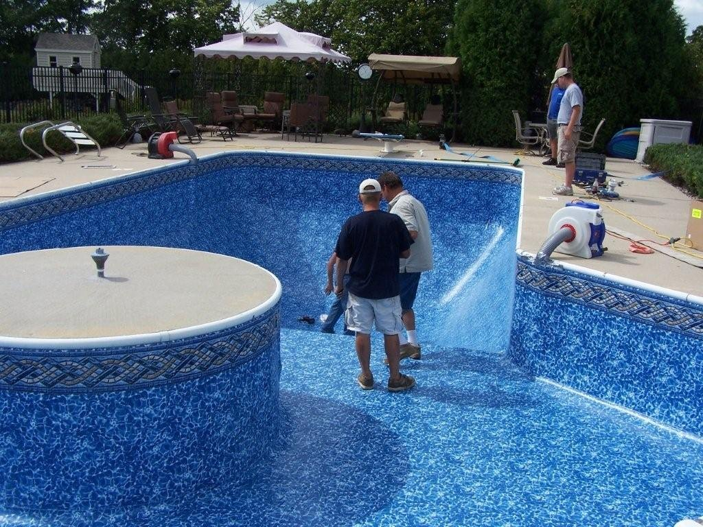 Vinyl Liner Pool Deck Home Idea Collection Bar Height Folding Table Design