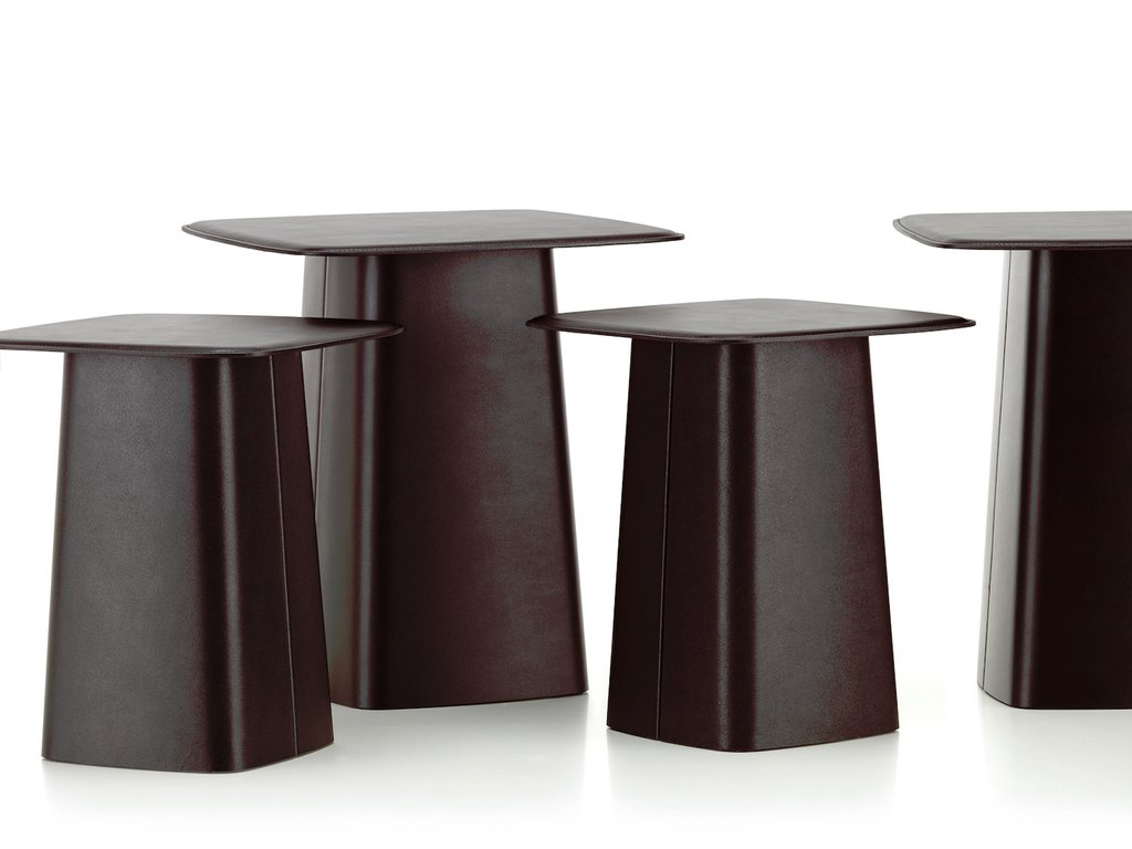 Vitra Leather Side Table Ronan Erwan Bouroullec How To Reclaimed Wood Side Table