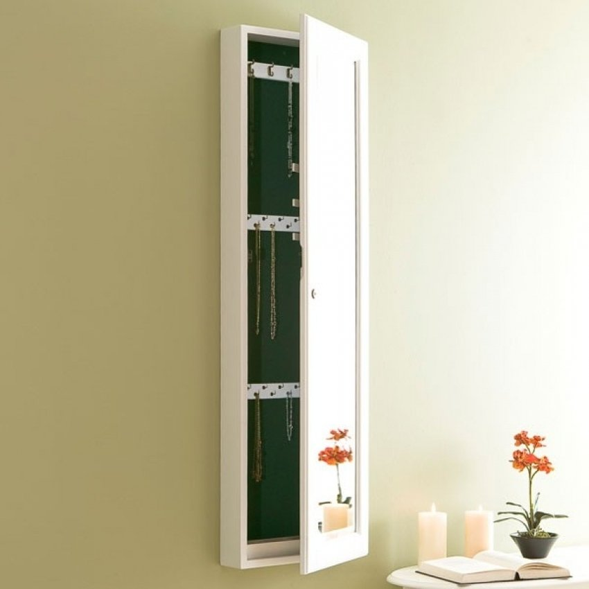 Wall Hanging Jewelry Armoire Cresif Mirrored Jewelry Cabinet Wall Mount