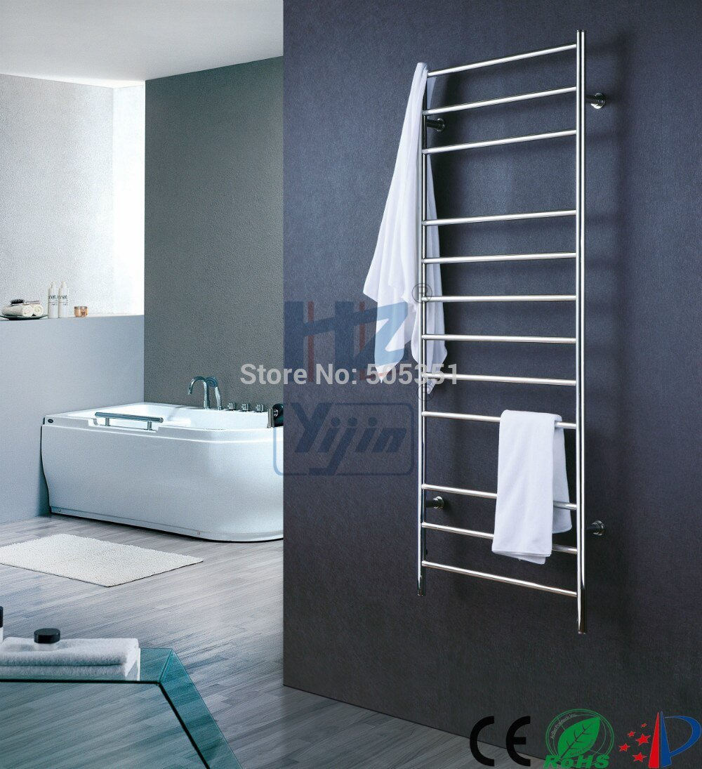 Wall Mounted Towel Warmer Stainless Steel Electric Towel Mounting A Wooden Towel Rack