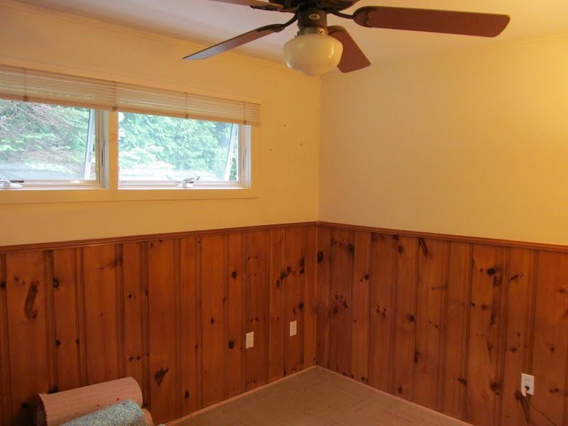 Wall Painted Wood Paneling Treatment Wood Paneling Makeover Remodel