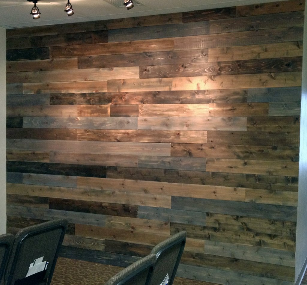 Weathered Wood Wall Jenna Calder Faux Wood Paneling Wall Wood Paneling Makeover Remodel