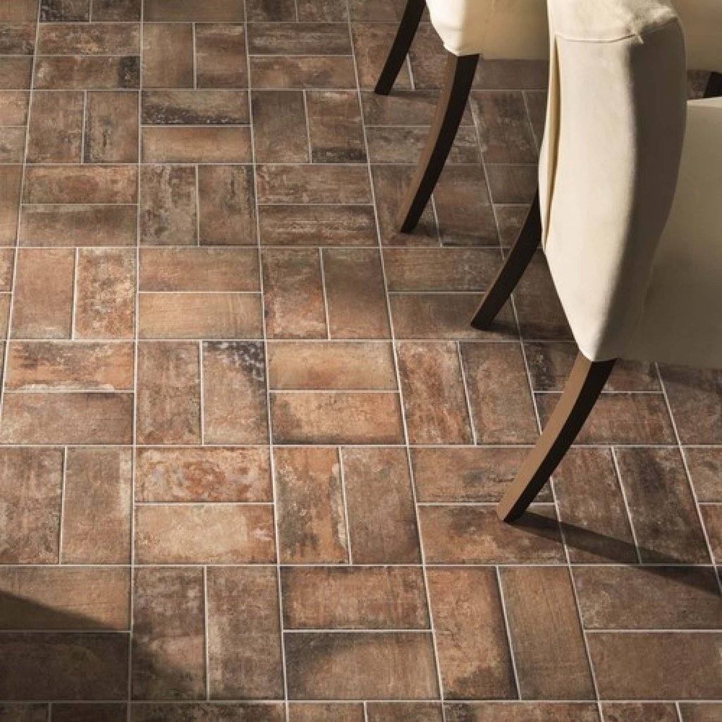 West Red Brick Wall Floor Tile Tile Tile Faux Brick Flooring Finish