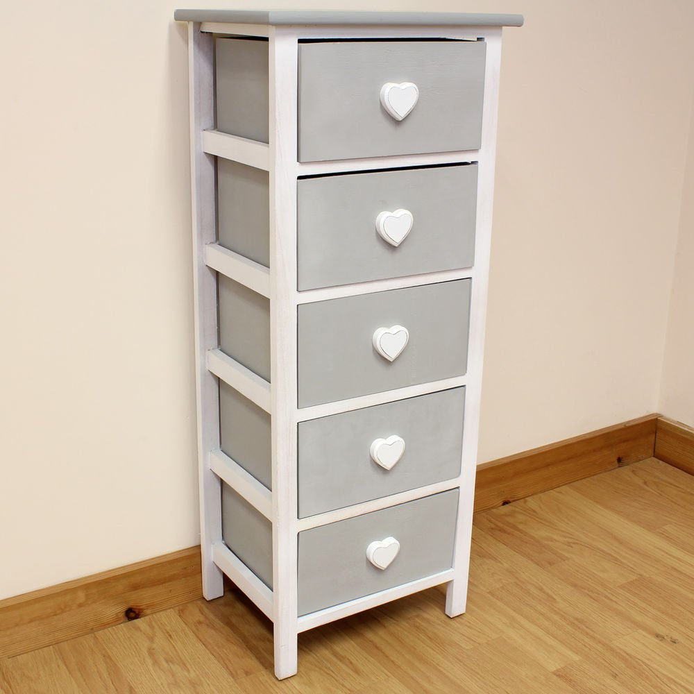White Grey Wooden Cabinet Girl Bedroom Furniture Create Dressing Table With Mirrored Dresser