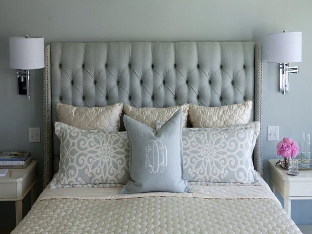 White Headboard Nailhead Trim Tufted Upholstered Guideline To DIY Tufted Headboard