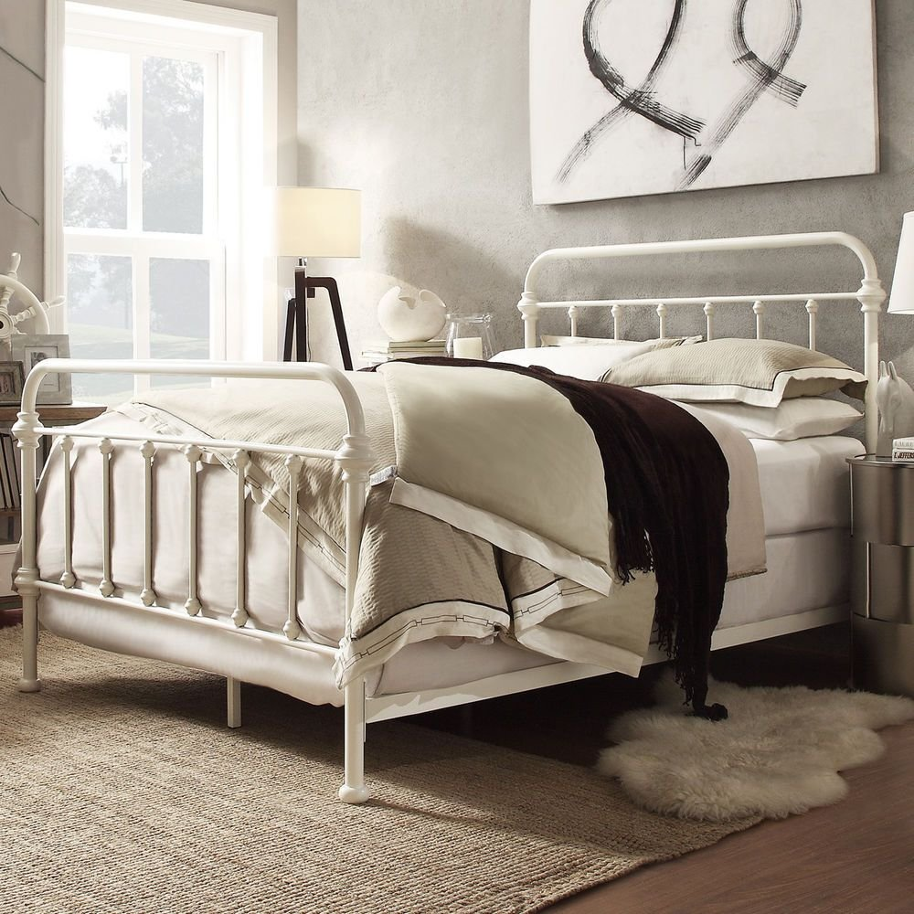 White Iron Bed Frame Ikea Home Design Idea Making An Wrought Iron Headboard