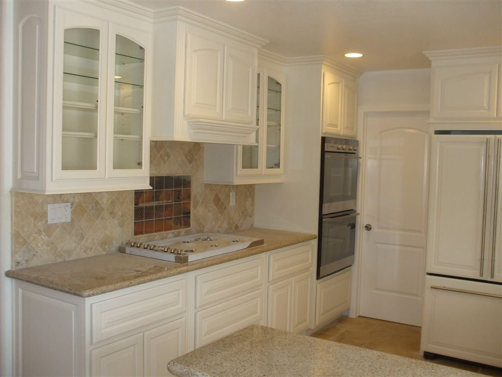 White Lacquer Kitchen Cabinetry Glass Door Idea How To Build Shaker Cabinet Doors Style