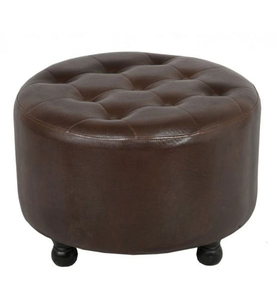 White Leather Ottoman Coffee Table   Amazing How To Make Round Ottoman Coffee Table