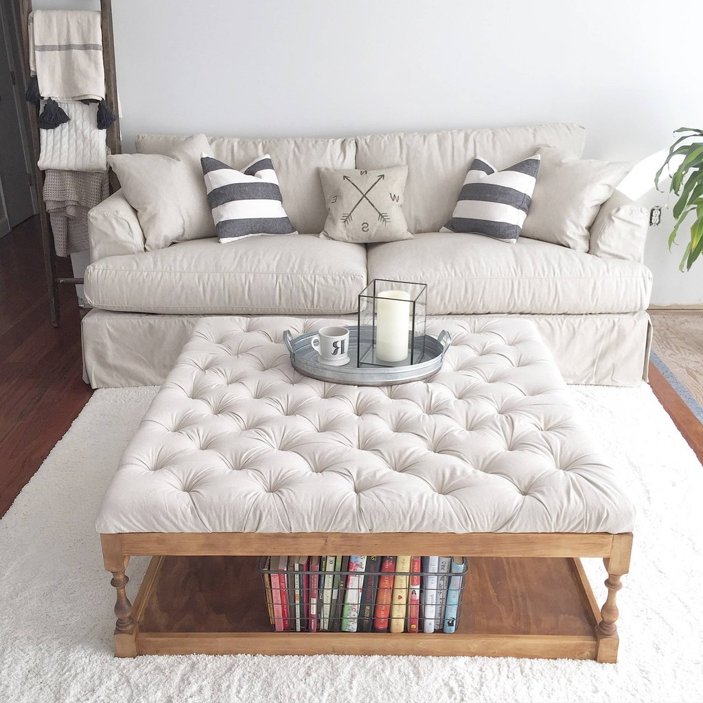 White Leather Ottoman Coffee Table Furniture Roy Home Design Square Leather Ottoman Coffee Table