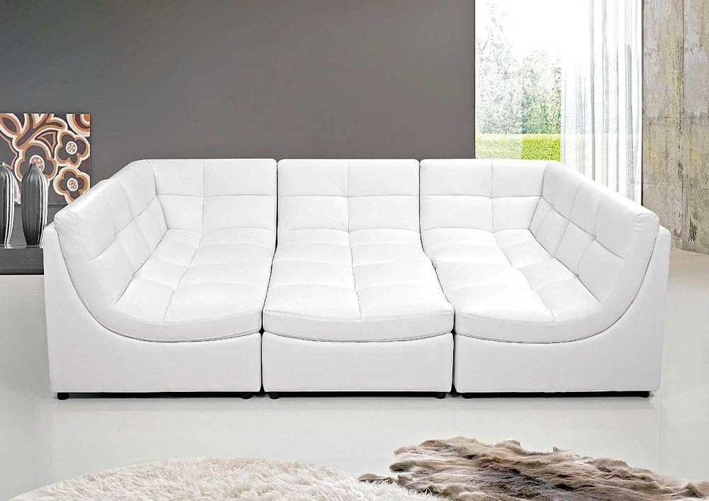 White Leather Sectional Horner How An Indoor Tabletop Shuffleboard Building