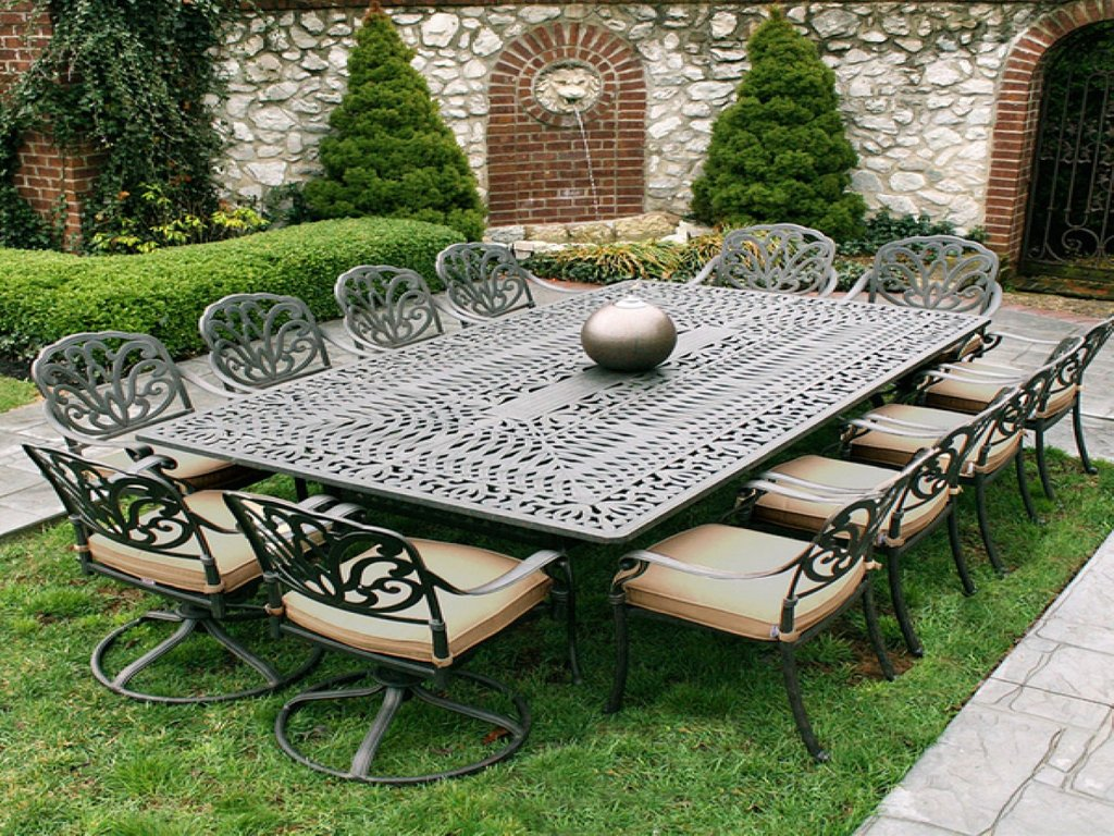 White Metal Garden Table Chairs Iron Patio Furniture Decorating Square Picnic Table
