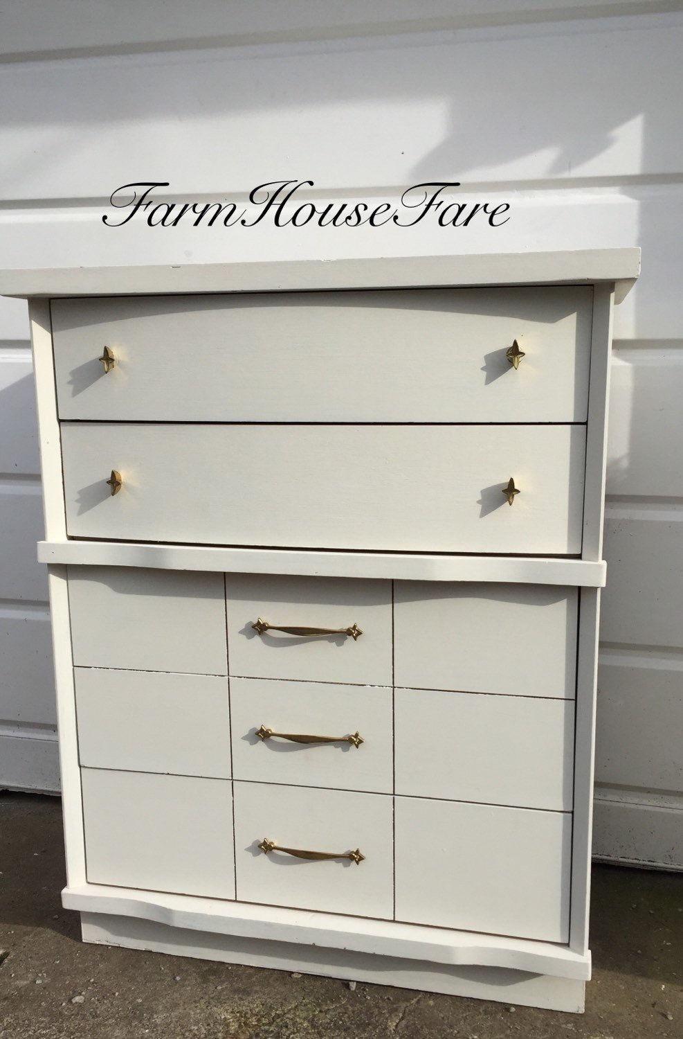 White Painted Dresser Chalk Paint Mid Century Modern Vintage Make Wooden Narrow Dresser Easier For The Drawer Slide