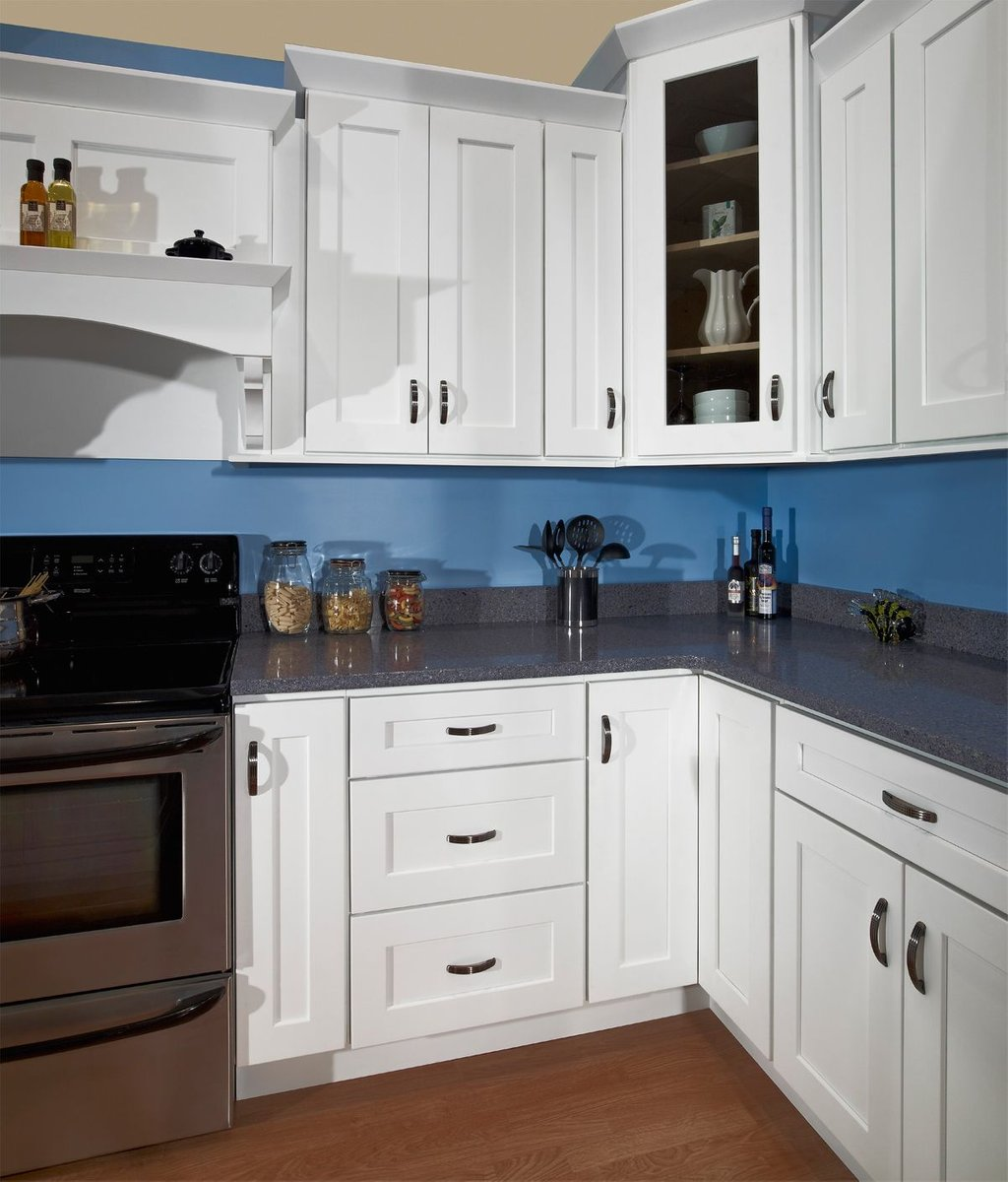 White Shaker Color Backsplash How To Build Shaker Cabinet Doors Style