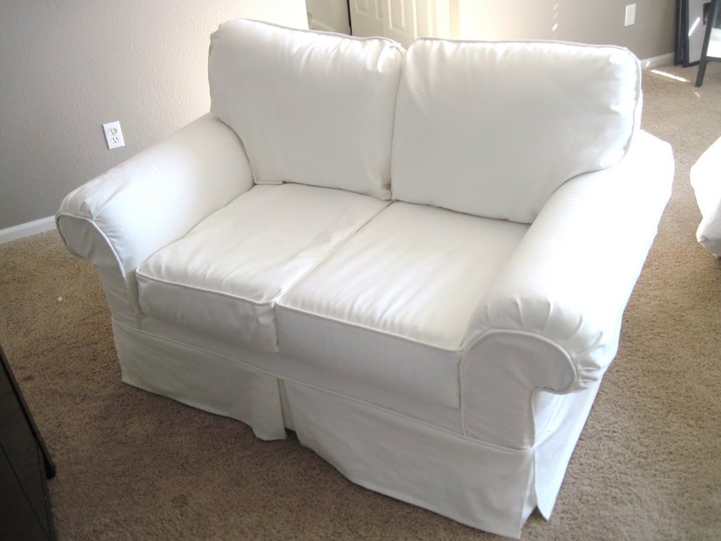 White Slipcover Sofa Cotton Canva How A Reclining Sofa To Function Properly