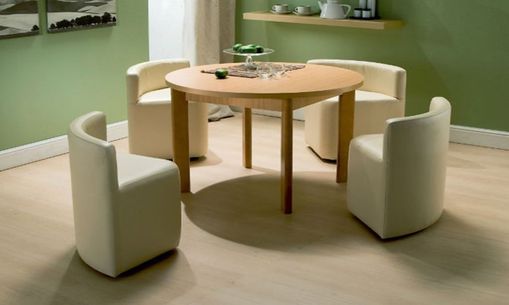White Space Saving Table Chair Essentialz Hygena Classic Round Extendable Dining Table